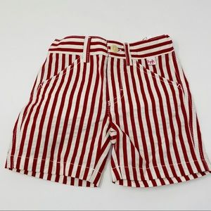 Il Gufo**Red Striped Baby Boy Shorts**6 Mo. $138